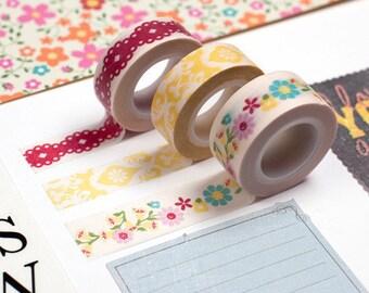3 Floral Washi Tape