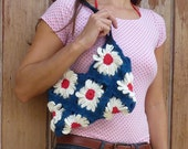 Granny square Bag Crochet Pattern PDF - floral crochet purse  - Instant DOWNLOAD