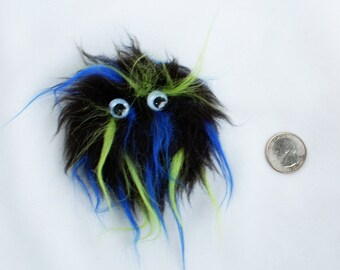 Black Blue and Green Monster Fridge Magnet
