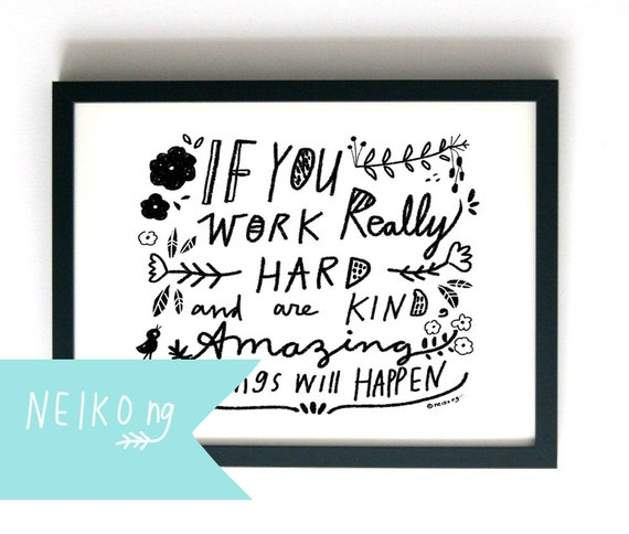 Life Size Quotes: Life Inspirational Quote Letter Size By PaperPlants On Etsy
