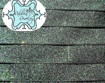 "Navy sparkly 7/8"" grosgrain ribbon- Gorgeo0us in person"