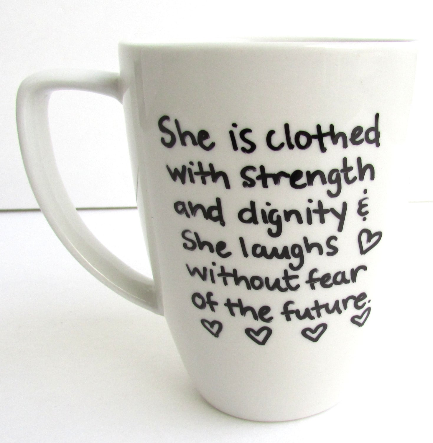 She Is Clothed With Strength And Dignity And She Laughs: Proverbs Coffee She Is Clothed With Strength And Dignity