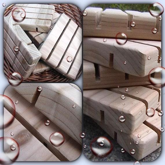 Soap Dish    ONE Cedar Natural Wood Spa Soap Saver    Handmade Wooden saver    Soap deck