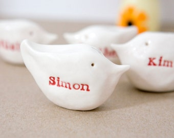 Personalised gift bird family SIX birds