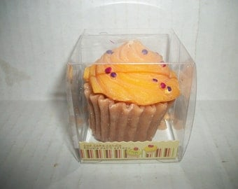 OrangeIced Cupcake Candle