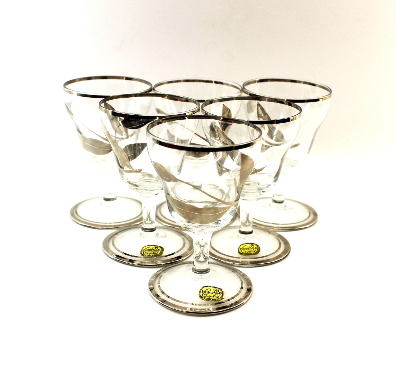 Bohemia Crystal Sherry Glasses Vintage Bohemia Glass Sherry
