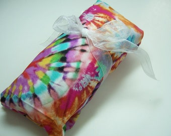Rice HEATING PAD - Microwavable - Tie Dye -  Removable cotton washable covers -  Rice Bag -Christmas Gift - Stocking Stuffer