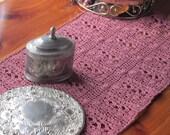 Pattern PDF for Crochet Diamond Dresser Scarf, Table Runner, Thread Crochet, Art Deco Doily