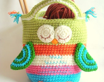 Crochet Bag Pattern Girls Purse, INSTANT DOWNLOAD PDF, Crochet Owl Purse Pattern Bag Girls Handbag
