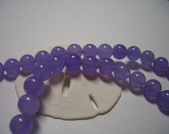 8mm Jade beads, purple, round, 8mm, light purple, 8mm gemstone beads, lavender beads, gemstone beads, purple Jade beads, lilac, full strand