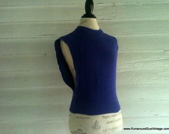Vintage 80s Purple Sweater Vest