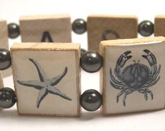 Under the Sea Scrabble Bracelet