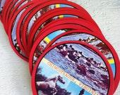 Playing Cards Round Vintage Pony Swim Pony Souvenir Chincoteague Virginia Red