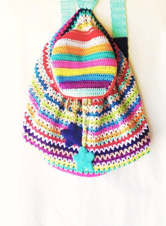 Crochet Bag Rucksack Backpack Knapsack Pattern Instant