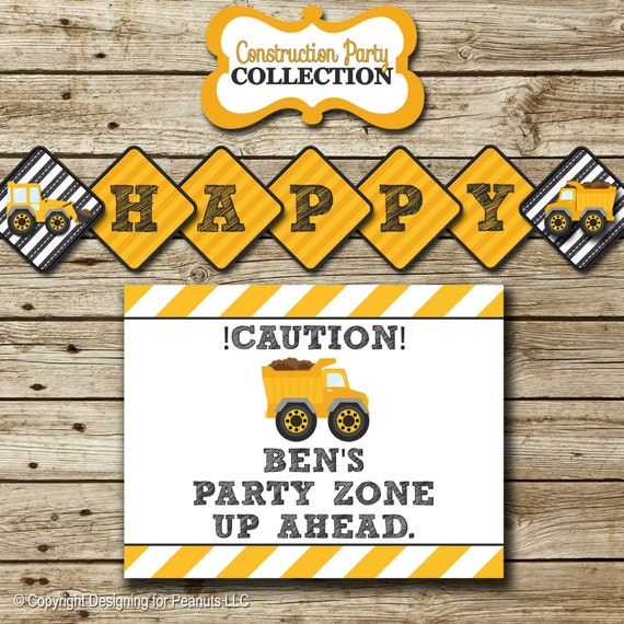 Dump Truck Birthday Party Pack Printable By