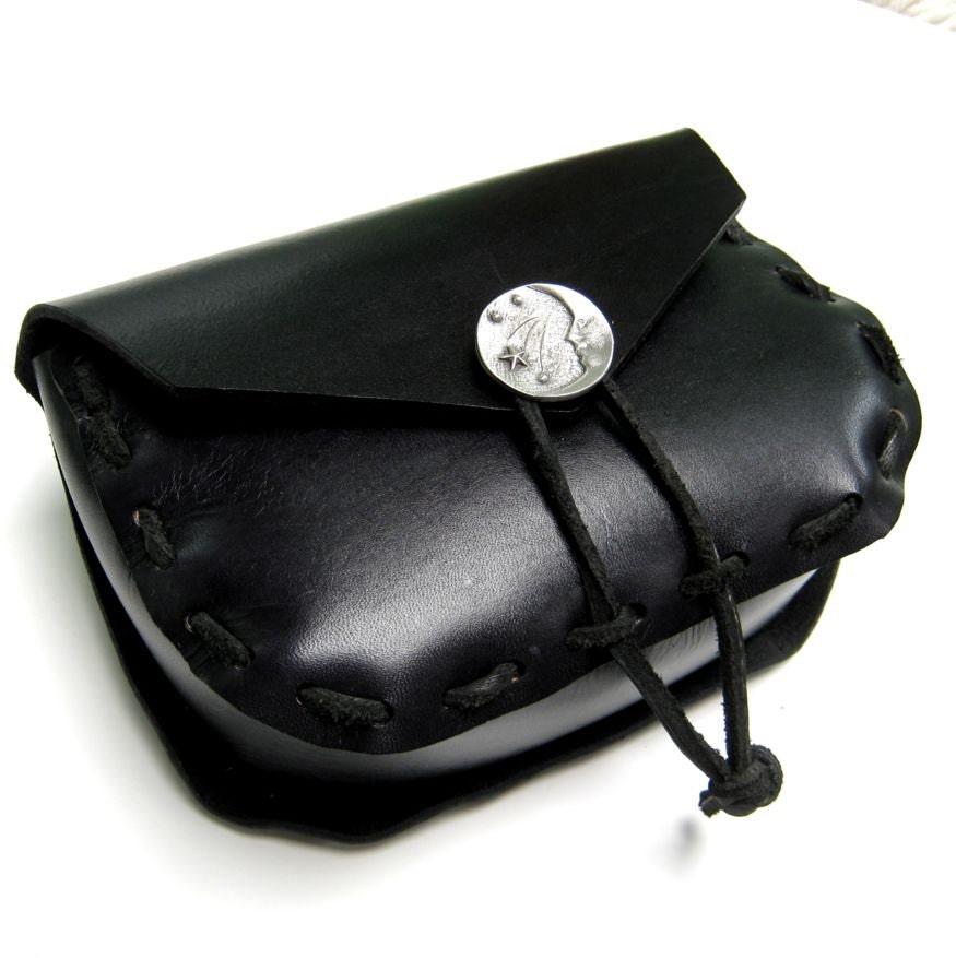 black belt purse leather belt purse wiccan by