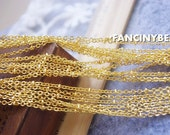 Promotion -gold plating-16 feet ball chain-jewelry handmade must-have-F817