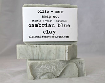 Cambrian Blue Clay Unscented Cold Process Soap