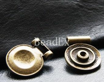 6pcs / Round Disk / Pendant / Antique Brass Tone / Base Metal (YB19712//E264B)