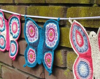 Crochet Butterfly Pattern, PDF-pattern