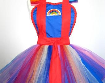 Adult Rainbow Brite Costume Tutu Apron
