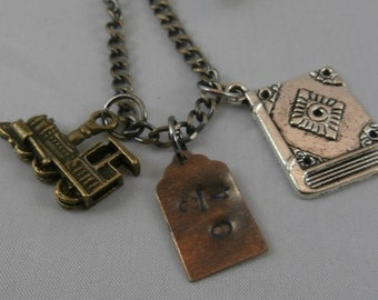 Harry Potter Hogwarts Express Handstamped Charm Necklace
