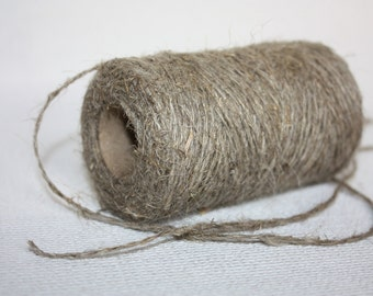1.5 mm Linen Yarn - 1 Spool = 110 Yards = 100 Meters of Natural Linen - Natural Color - 2 strand
