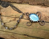 Real Butterfly Necklace - Gunmetal Necklace