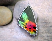 Child Size Pendant - Madagascan Sunset Moth Pendant - Small Pendant