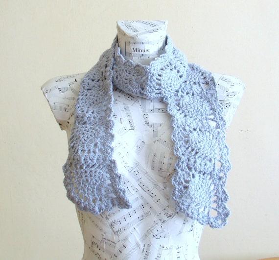 handmade crochet pineapple scarf ready for shipping