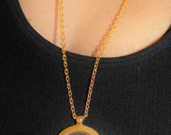 Floating locket, memory locket, glass locket, locket necklace, personalized locket, Personalized Memory Locket