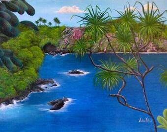 Hamakua Coast giclee' print by Vickie Peters