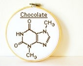 Chocolate Molecule. Cross stitch Pattern PDF. Instant download. Includes easy beginners instructions.