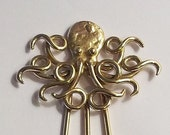 Octopus Hair Fork in Bronze