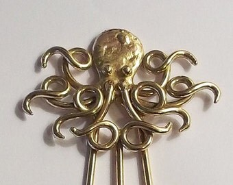 Octopus Hair Fork in Bronze