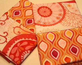 Retro Pink and Orange Pillowcases