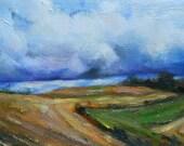 Fields, Original oil painting