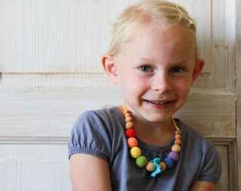 Rainbow Necklace for a Little Girl