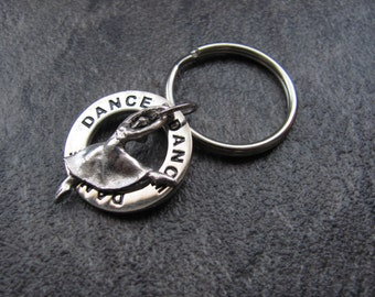 Dance Keychain: Silver Dance Charm