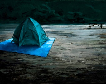 "Oil painting tent camping ""Space-time Continuum"""
