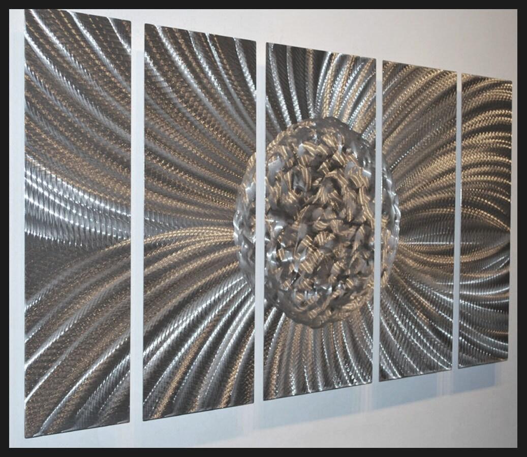 Metal Wall Art Decor Abstract Aluminum Contemporary Modern: Abstract Art Silver Ball Modern Metal Wall Decor Contemporary