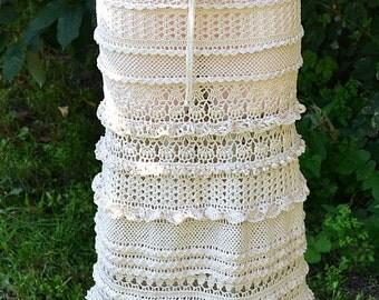 Crocheted long skirt , made to order , crochet handmade , chic , elegant , spring , summer , beach, wedding long skirt, summer skirt, beach