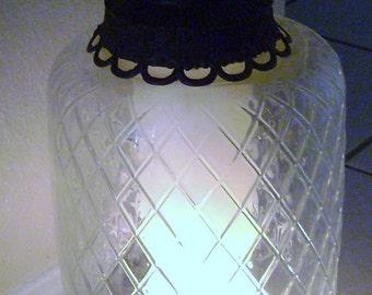 Vintage Hollywood Regency Glass Base Lamp