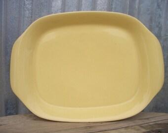 Vintage Yellow Serving Platter