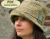New: Sewing pattern to make the Chelsworth Cloche Hat - PDF hat pattern INSTANT DOWNLOAD