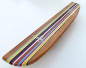 Classic Stripe Longboard Surfboard Shelf 28 Inches
