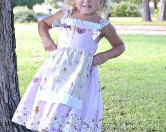 12M 18M 2T 3T 4T girls summer dress clothing apron knot dress