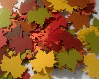 125 Fall Maple Leaves Die Cuts 1 inch