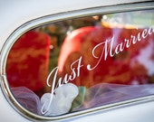 Just Married Sticker - Personalised colour decal for bridal car, dance Floor, wedding decoration, etc.