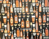Vintage Wrapping Paper - Bar is Open - Drink Connoisseur - Full sheet Gift Wrap - Cocktail Gift Wrap - Martini Classic Drinks